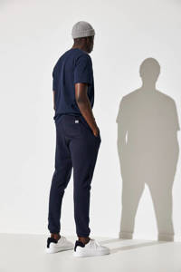 SELECTED HOMME regular fit joggingbroek van biologisch katoen donkerblauw, Donkerblauw