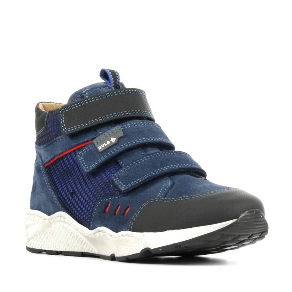 Develab 41863  hoge suède sneakers blauw, Blauw