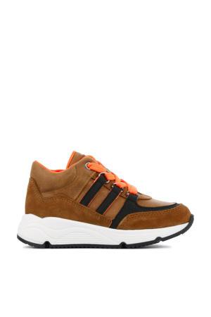 P1883  suède sneakers cognac