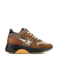 Hip H1976  chunky dad sneakers cognac/panterprint, Cognac