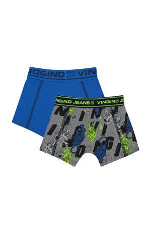 boxershort Tigerhero - set van 2 blauw/zwart/groen