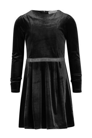 fluwelen A-lijn jurk Palmire zwart
