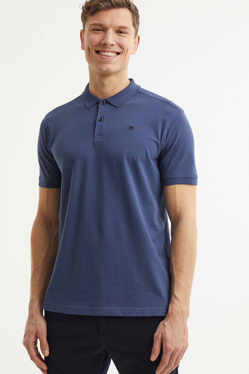 LERROS regular fit polo blauw, Blauw