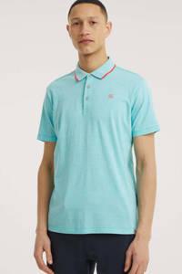 LERROS gemêleerde regular fit polo turquoise, Turquoise