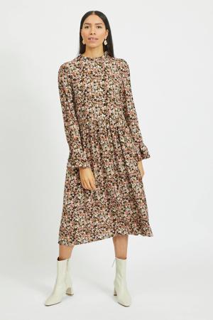 jurk VIBROOKS met all over print rosé