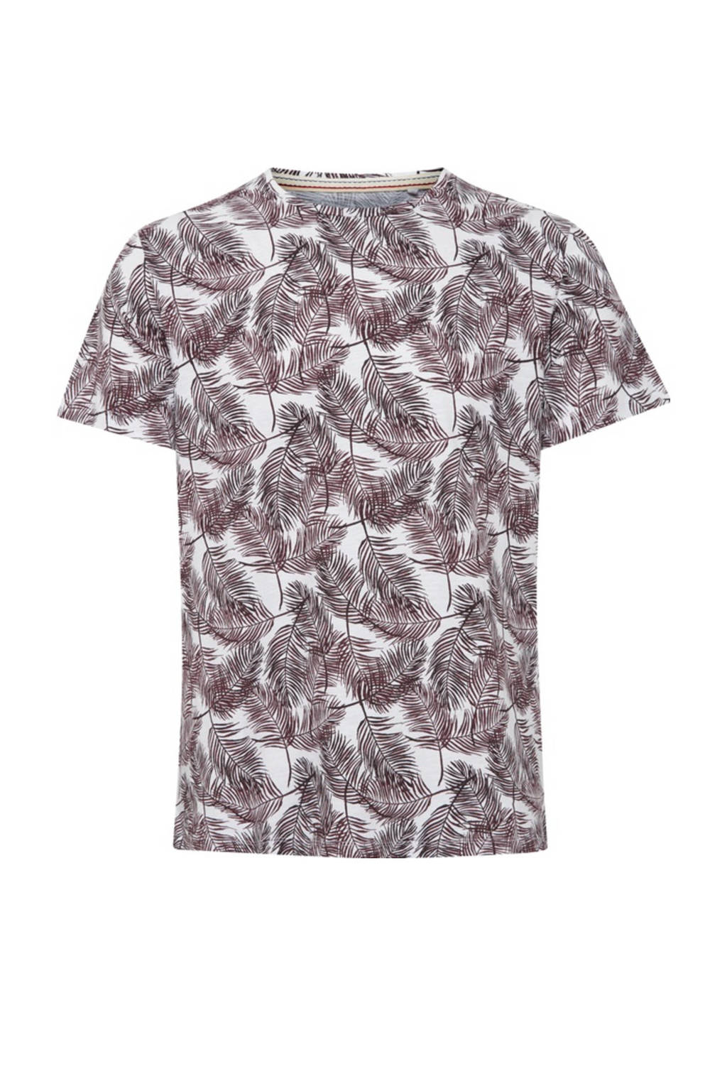 Blend T-shirt met all over print roze, Roze