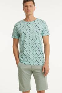 Blend T-shirt met all over print groen, Groen