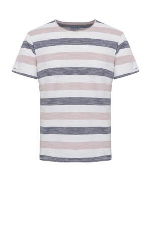 gestreept T-shirt pale mauve