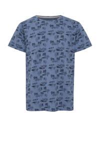 Blend T-shirt met all over print blauw, Blauw
