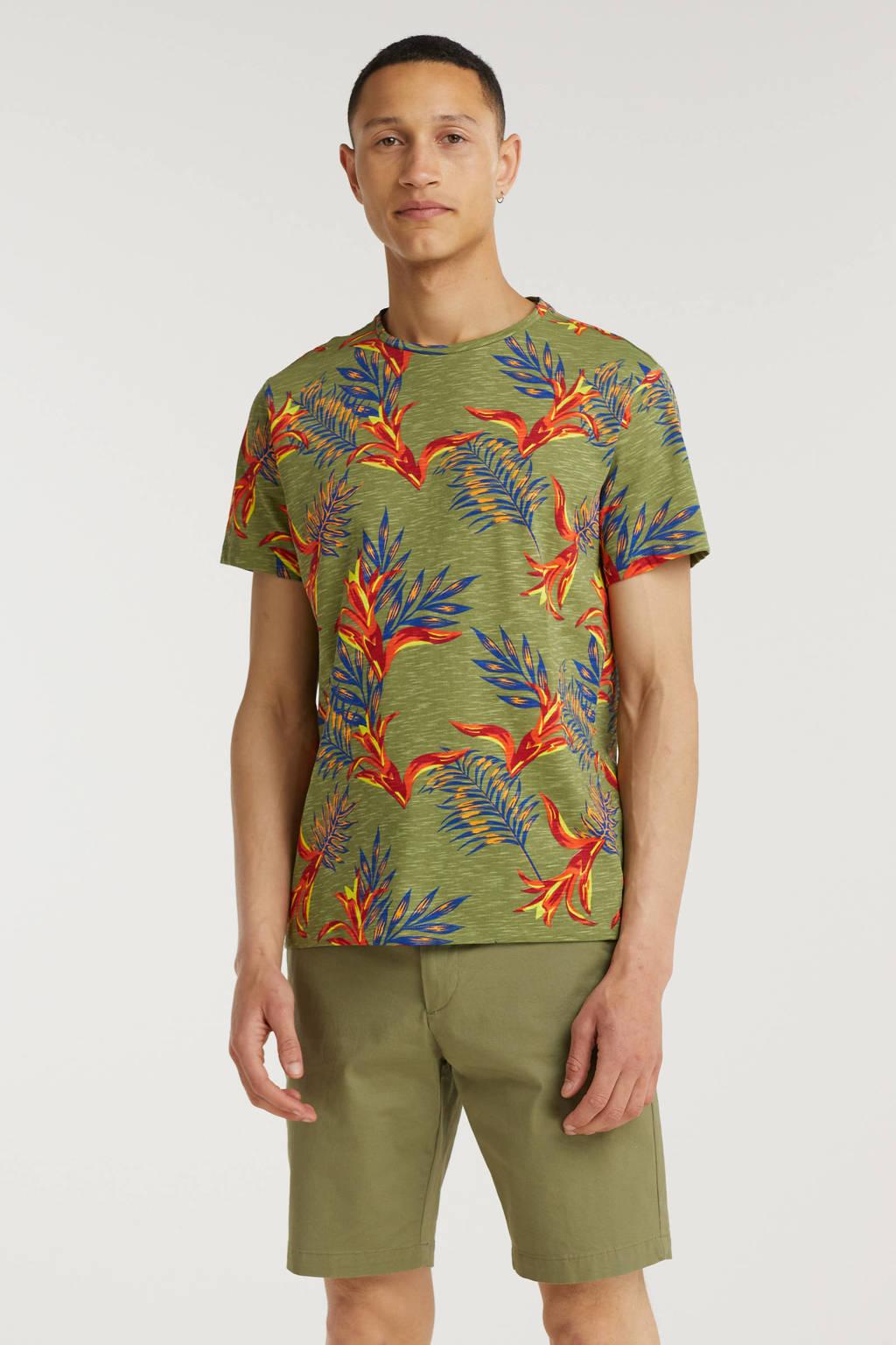 Blend T-shirt van biologisch katoen groen, Groen