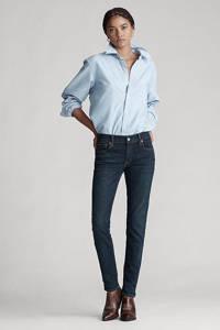 POLO Ralph Lauren high waist skinny jeans blauw, Dark indigo
