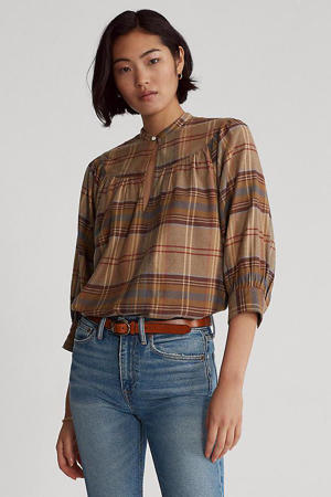 geruite top 864 brown