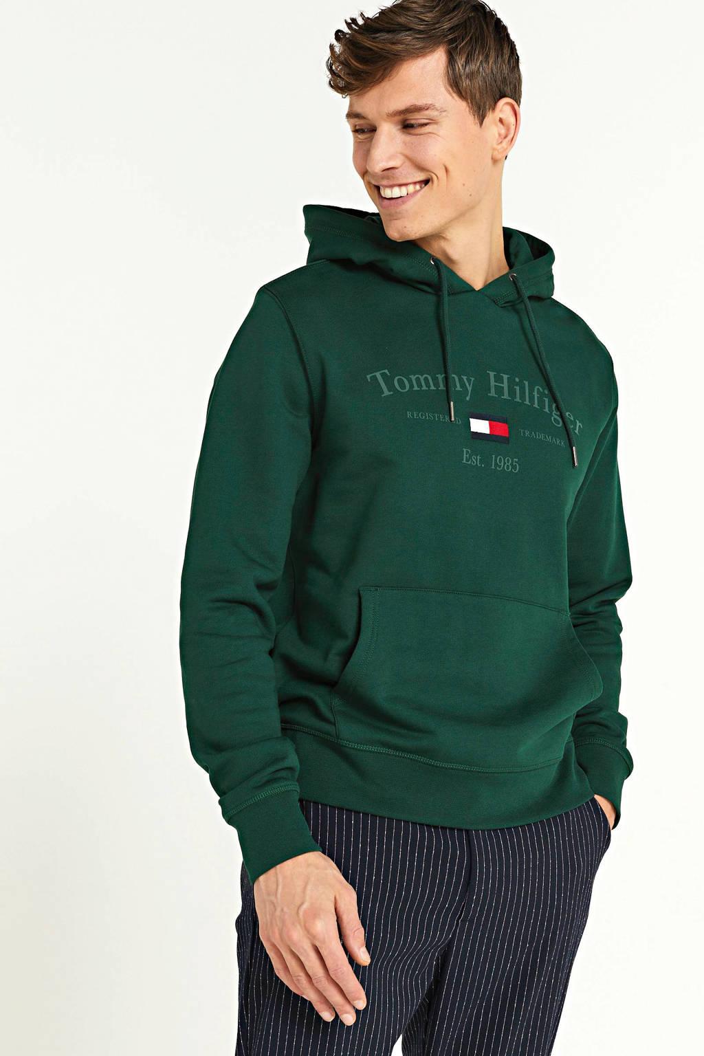 Tommy Hilfiger hoodie van biologisch katoen groen, Groen