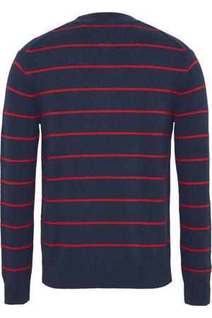 gestreepte trui donkerblauw/rood