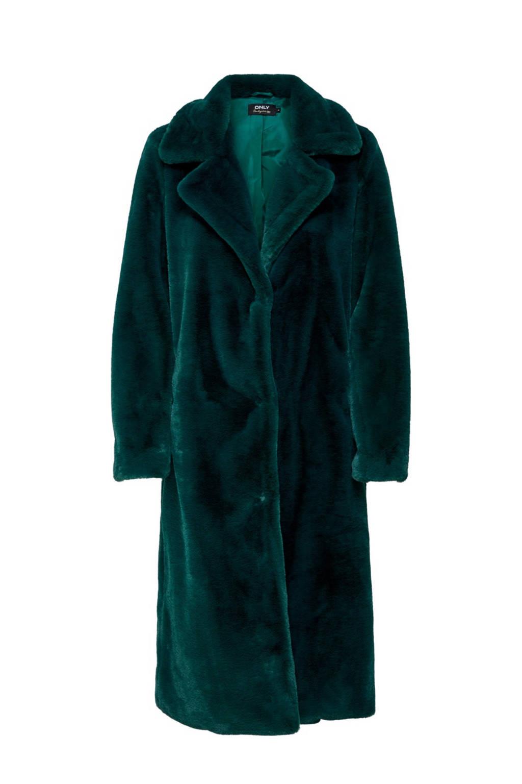 ONLY imitatiebont winterjas groen, Groen