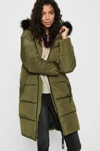 ONLY gewatteerde jas Monica donkergroen/zwart, Donkergroen/zwart