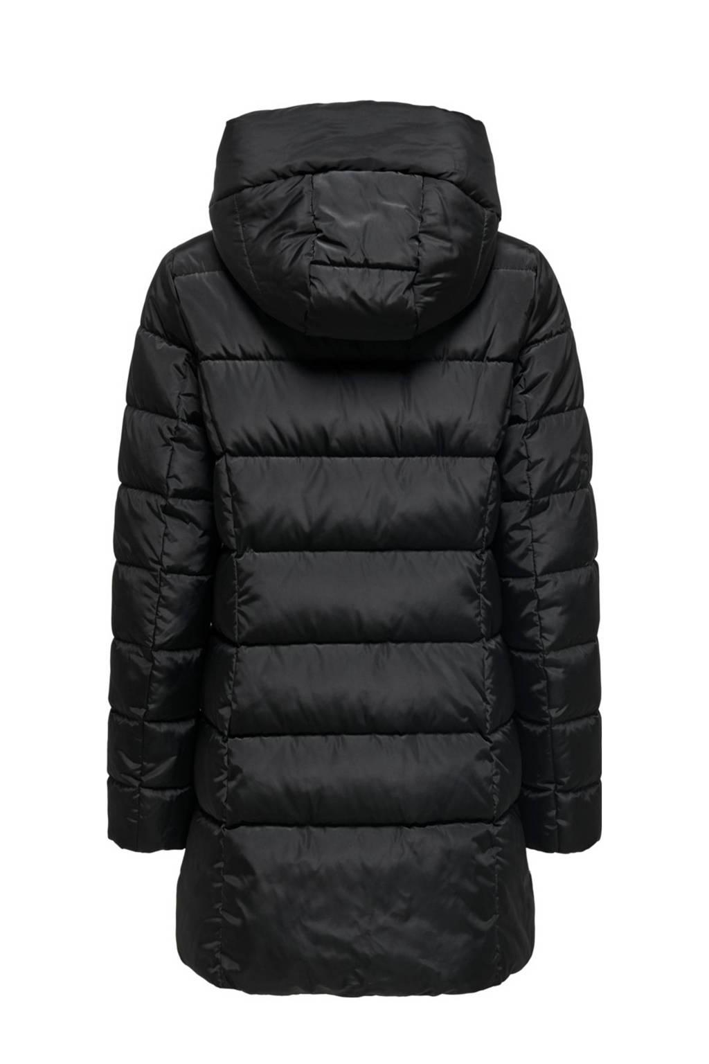ONLY gewatteerde jas zwart, Zwart