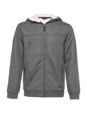 fleece vest grijs melange