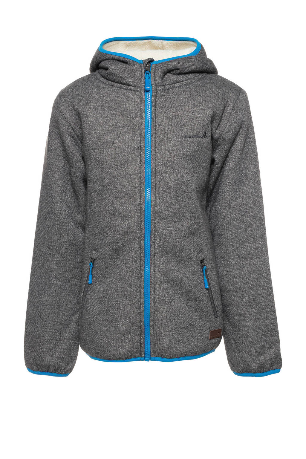 Scapino Mountain Peak fleece vest grijs melange, Grijs
