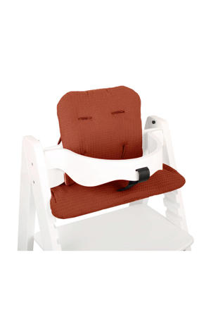 kussenset voor kinderstoel Kidsmill Up roodbruin wafel