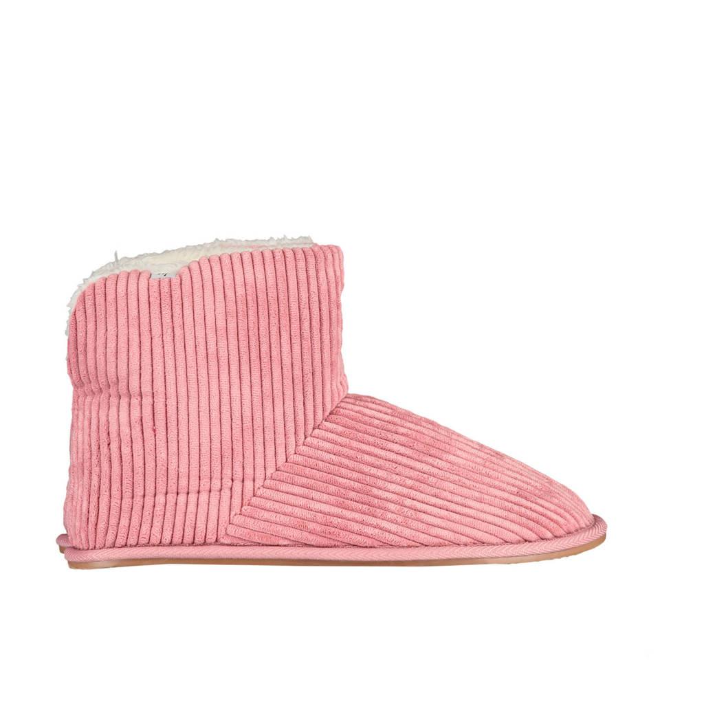 America Today Adele corduroy pantoffels roze, Roze