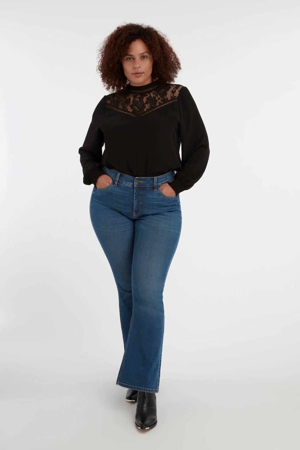 MS Mode high waist flared jeans light denim stonewashed, Light denim stonewashed