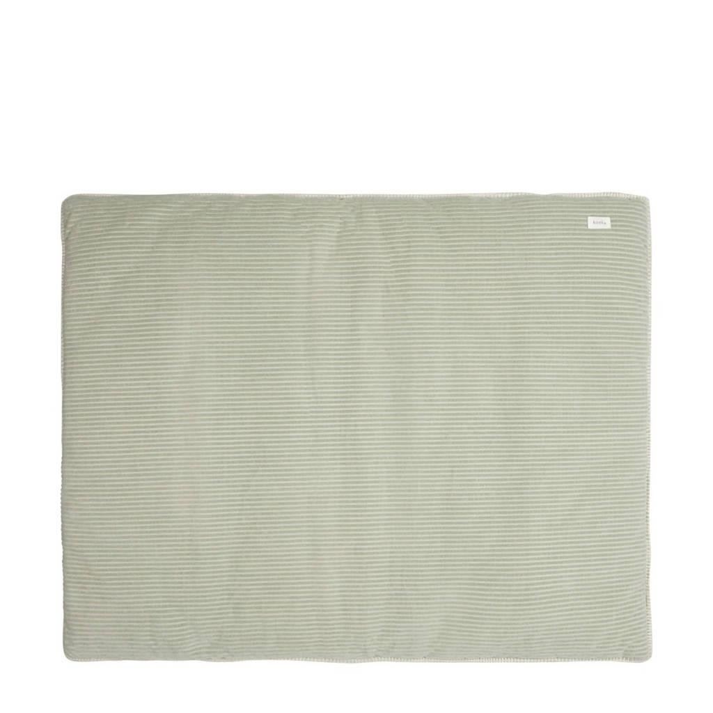 Koeka boxkleed Vik sand/shadow green, Shadow Green/Sand