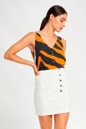 top zwart/oranje