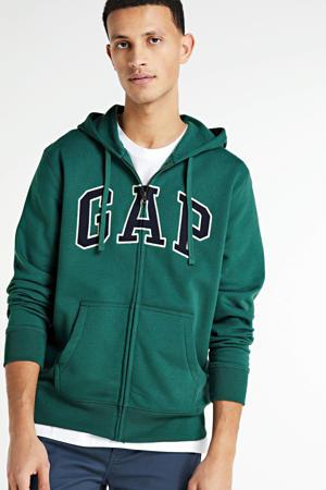 vest met logo groen