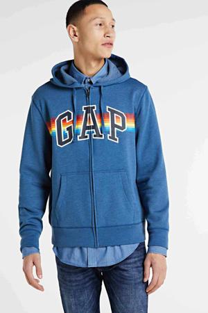 vest met logo blauw