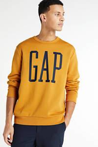 GAP sweater met logo geel, Geel