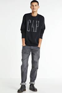GAP sweater met logo zwart, Zwart