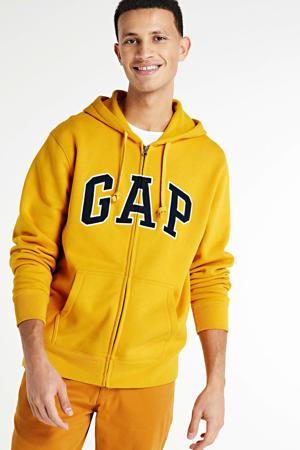 vest met logo geel