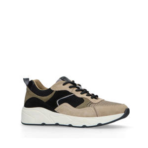 leren dad sneakers beige/multi