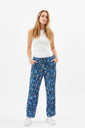 loose fit broek Pynne met all over print blauw