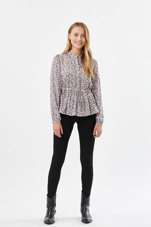 blouse Trinne met all over print roze/multi