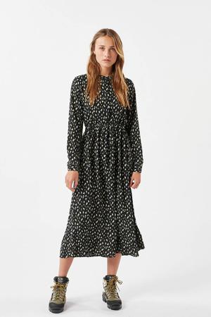 blousejurk Tanisa met all over print zwart