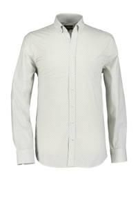 State of Art regular fit overhemd met all over print wit/lichtgeel, Wit/lichtgeel