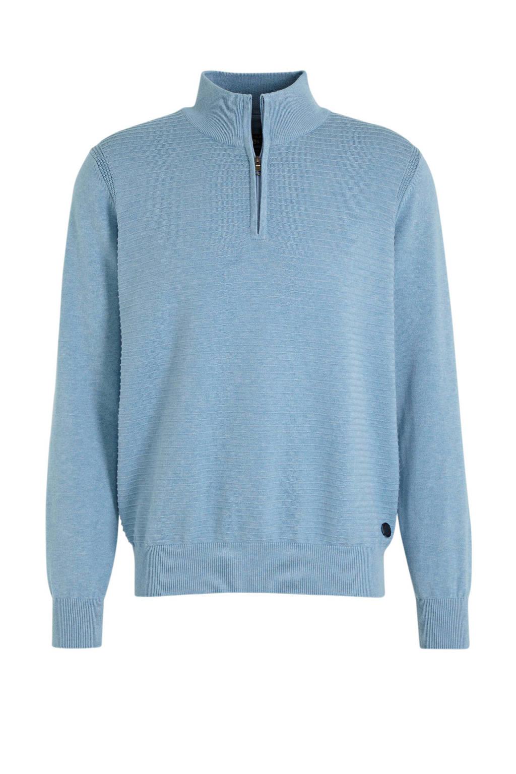 State of Art trui met textuur lichtblauw, Lichtblauw