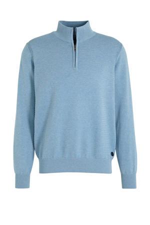 trui met textuur lichtblauw