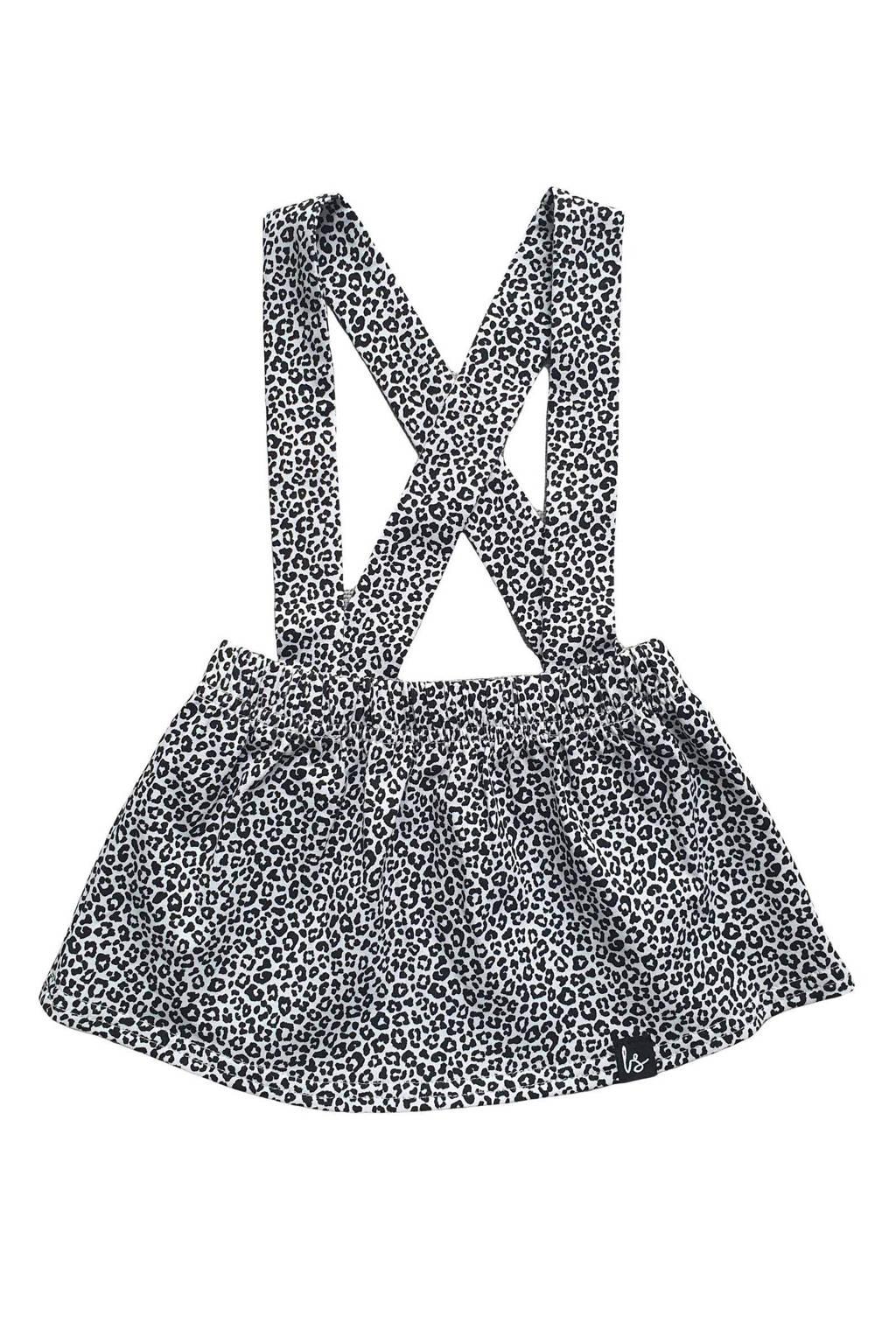 Babystyling rok met dierenprint zwart/wit, Zwart/wit