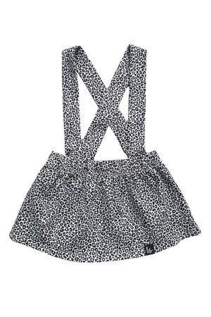 rok met dierenprint zwart/wit