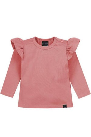 longsleeve met ruches oudroze