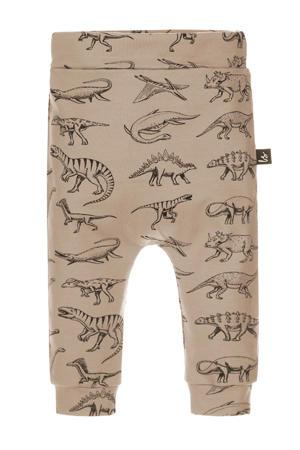 broek met dierenprint taupe