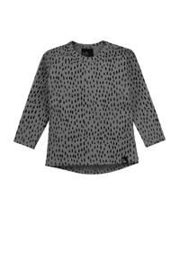 Babystyling longsleeve met all over print grijs/zwart, Grijs/zwart