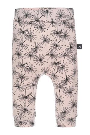 broek met all over print roze