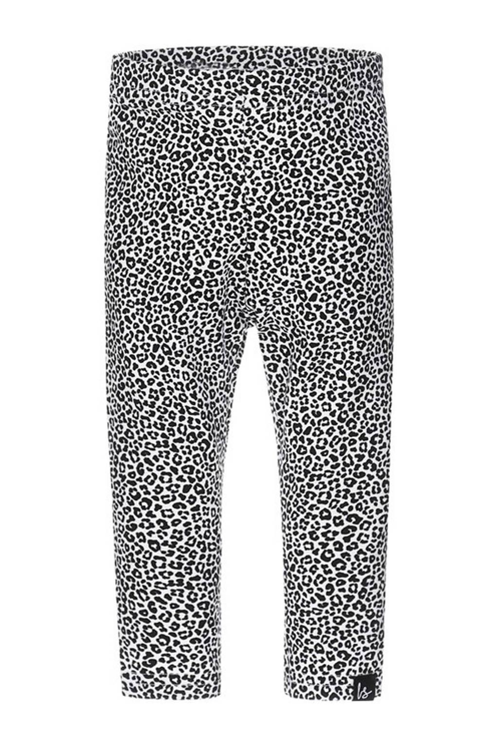Babystyling legging met dierenprint zwart/wit, Zwart/wit