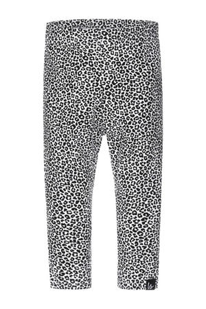 legging met dierenprint zwart/wit