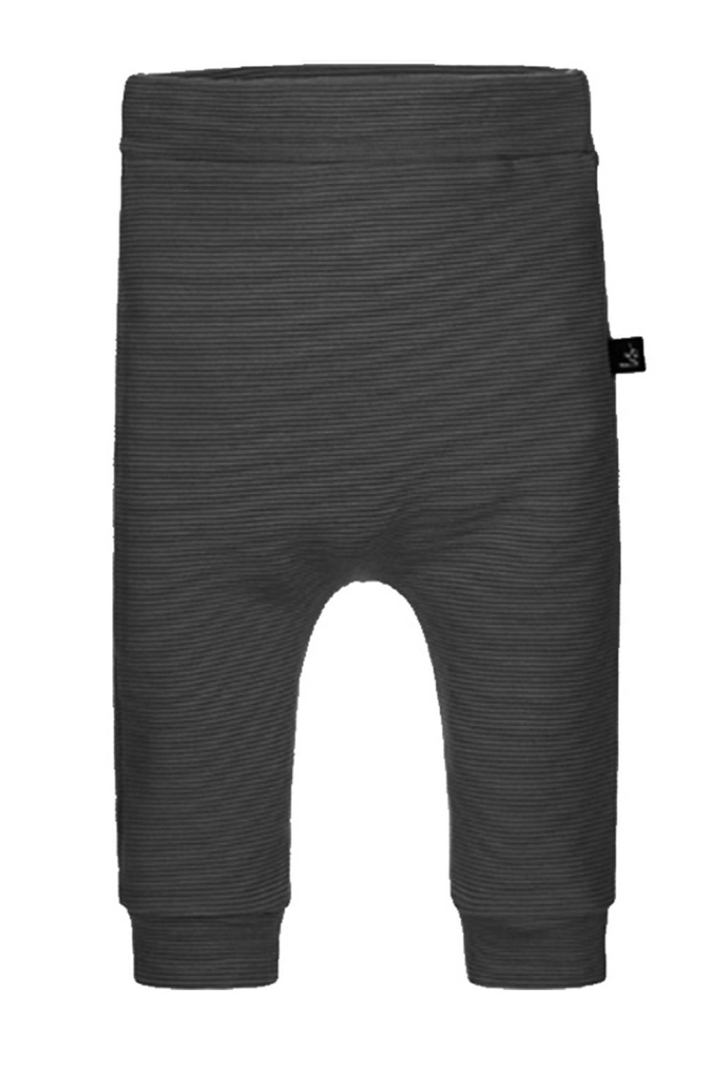Babystyling baby gestreepte slim fit broek zwart, Zwart
