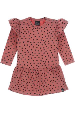 jurk met stippen roze